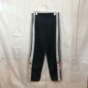 Vintage Adidas Black Snap Up Track Pants Small